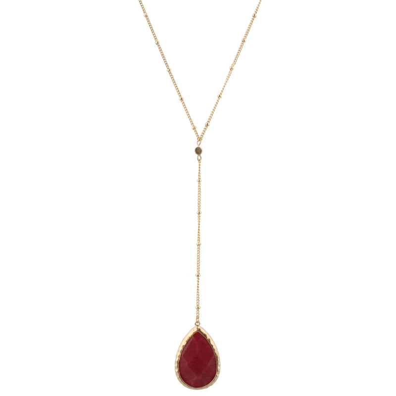 Burgundy Adjustable Y