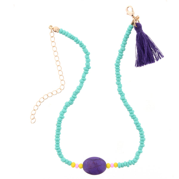 Blue and Purple Kids Necklace