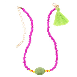 Pink and Green Kids Necklace