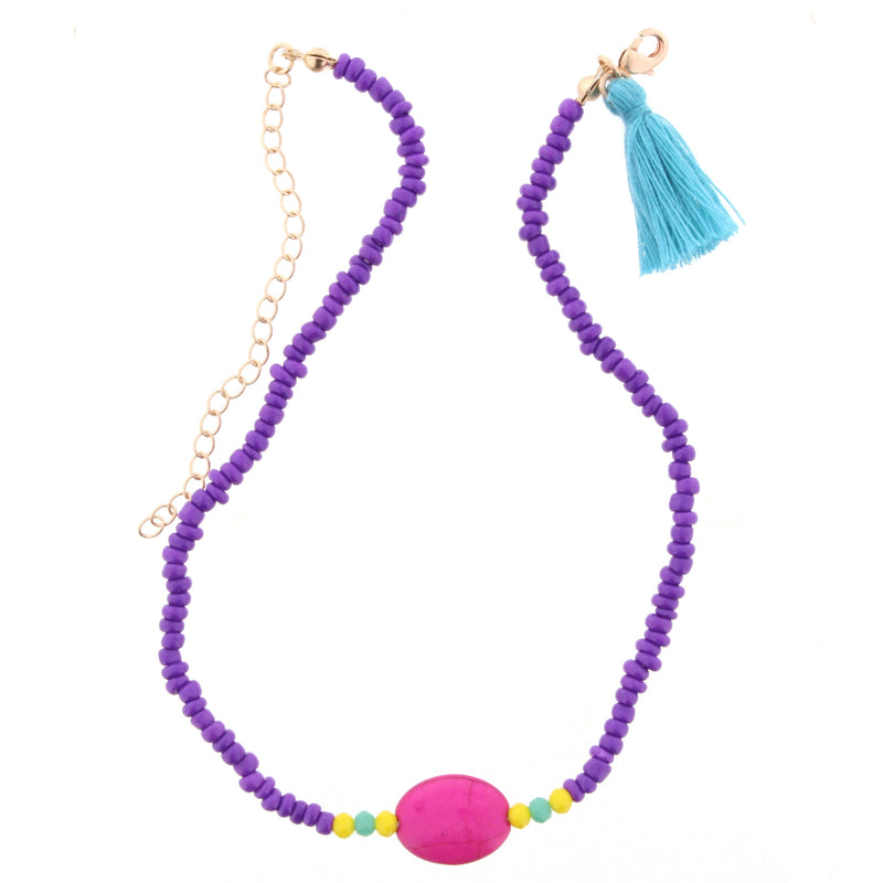 Purple and Pink Kids Necklace