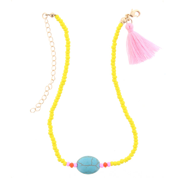 Yellow and Blue Kids Necklace
