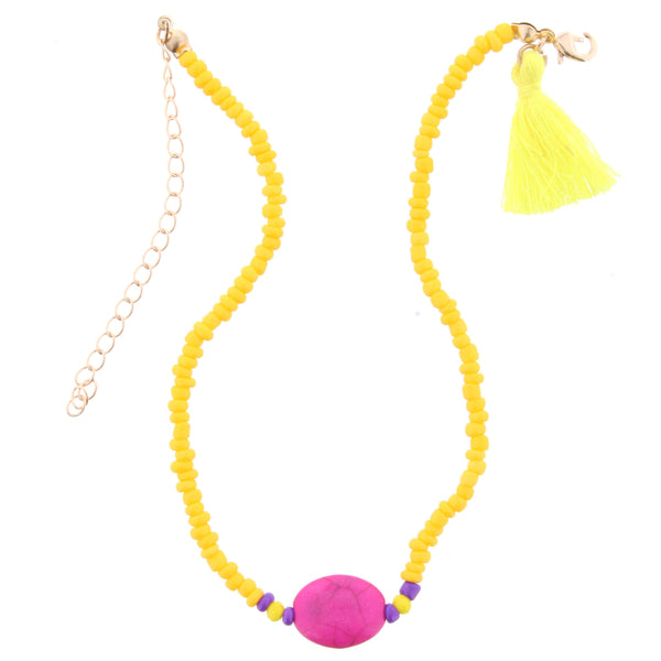 Yellow and Pink Kids Necklace