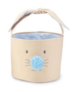Blue Bunny Face Easter Basket