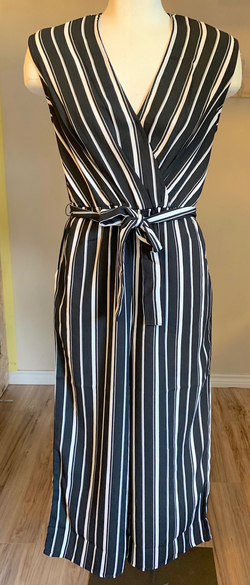 Ladies Woven Jumpsuit Stripe