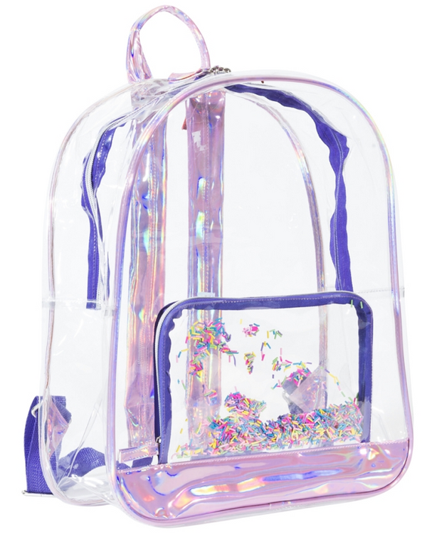 Clear Sprinkles Backpack with Pencil Pouch