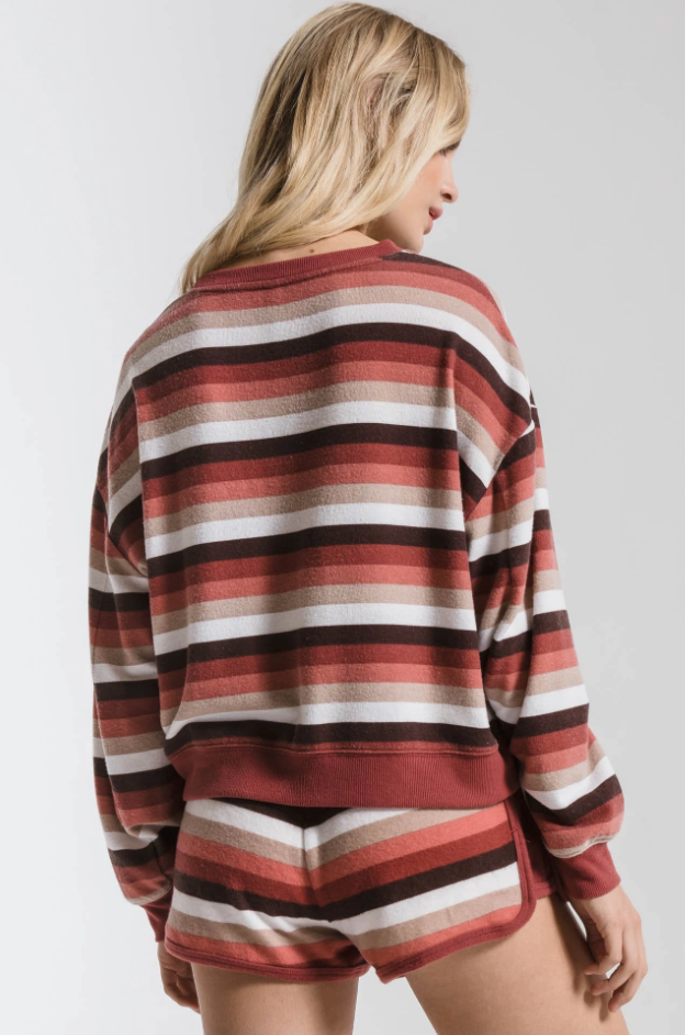 The Rainbow Stripe Pullover Rainbow Mesa Red