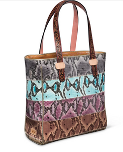 Classic Tote Miley Striped Snake