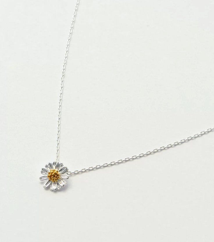 Wildflower Necklace Silver
