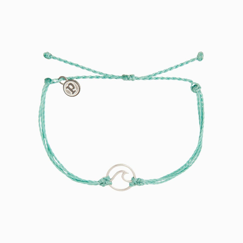Silver Wave Bracelet Ice Blue