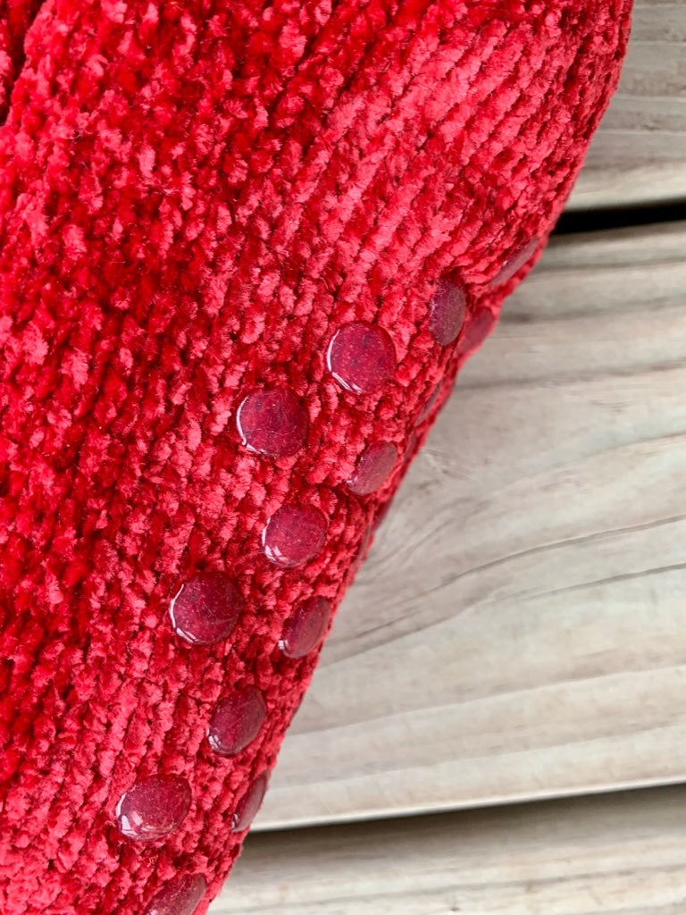 Chenille Rib Sherpa Line Red