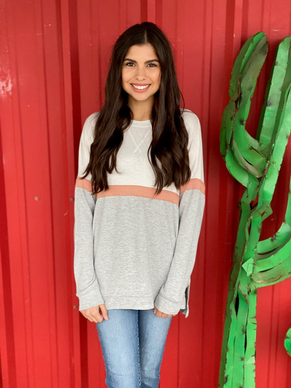The Color Block Long Sleeve Top