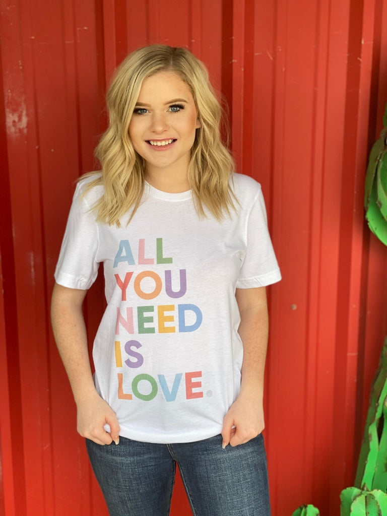 All You Need is Love Graphic Tee White