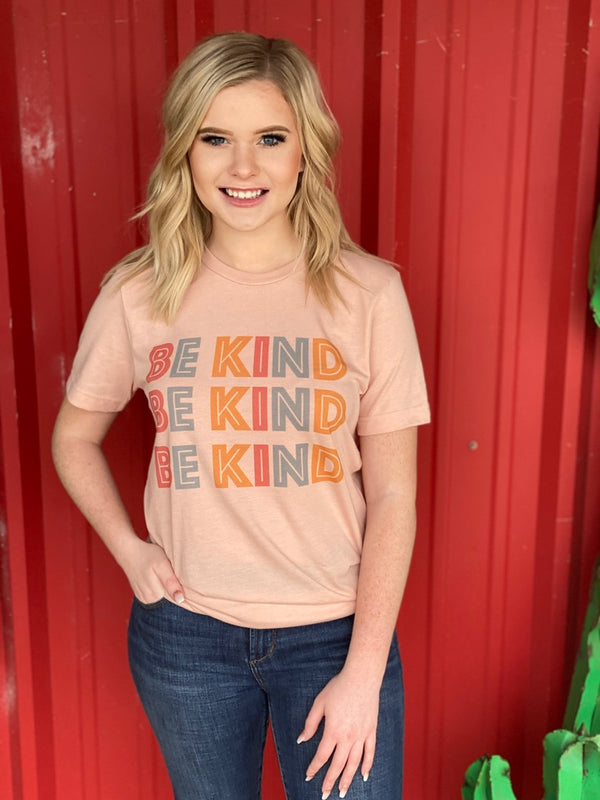Be Kind Block Letter Graphic Tee