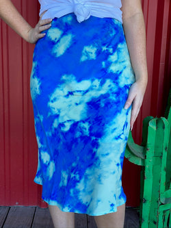 Royal Blue Tie Dye Skirt