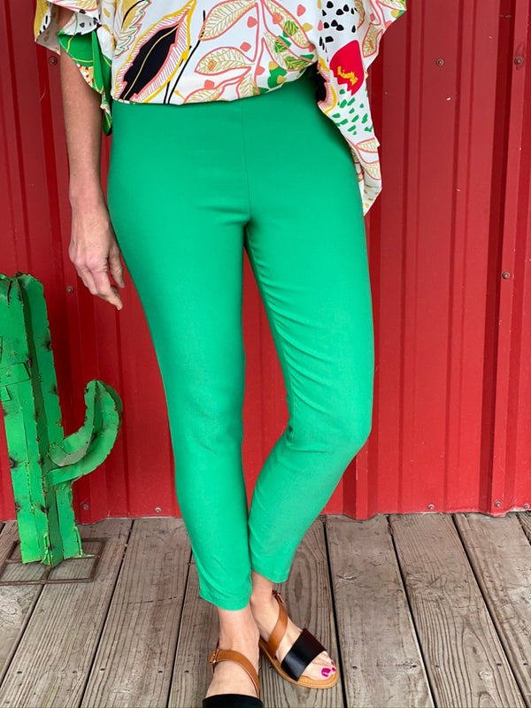 Kelly Green Pants With Belt