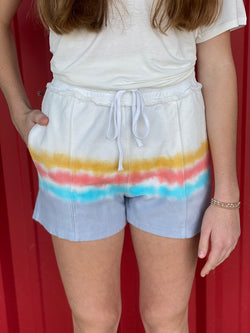 Multi Color Washed Shorts