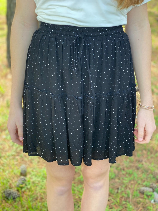 Black Polka Dot Skirt