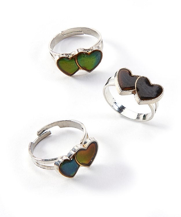 Double Heart Mood Ring