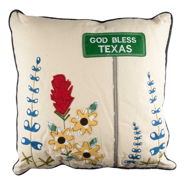 Blue Bonnet Pillow