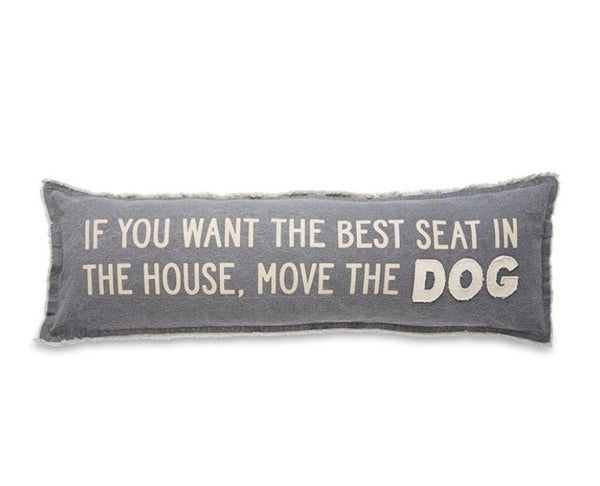 Move the Dog Long Pillow