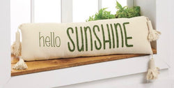 Garden Washed Canvas Pillow Hello Sunshine