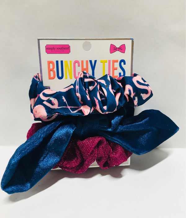 Bunchyties Flamingo Blue