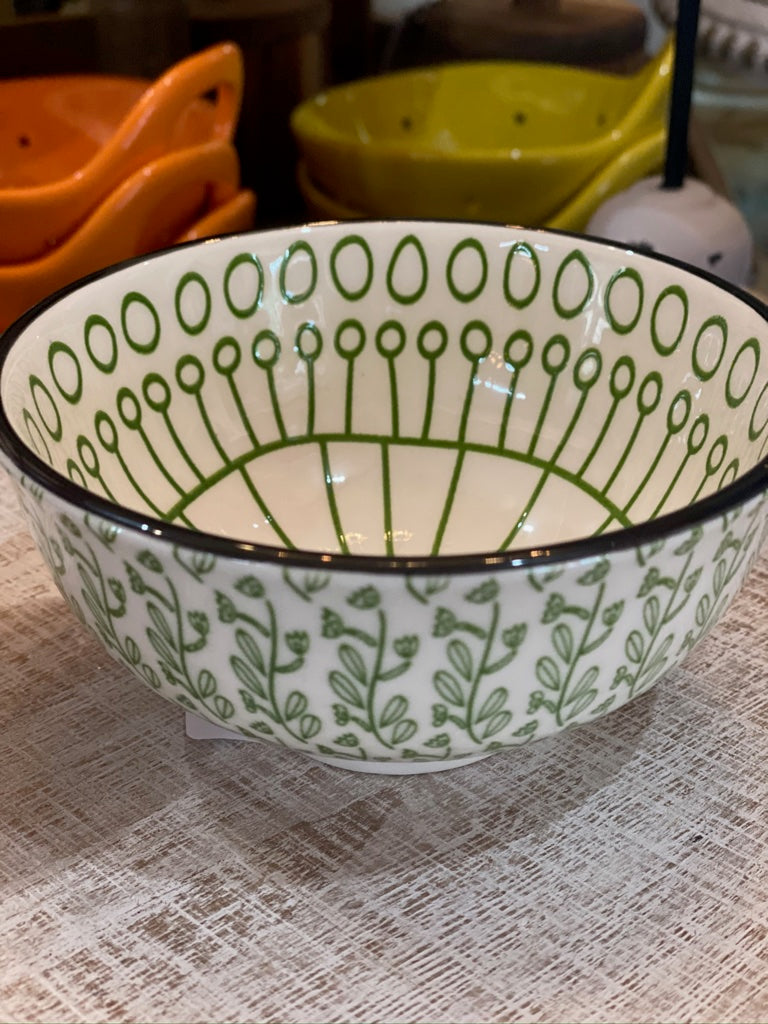Hand-Painted Bowl Green