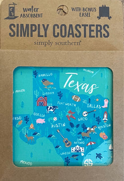 Texas State Square Coaster