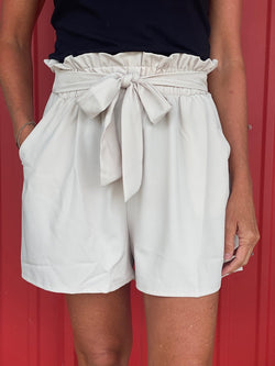 Oatmeal Paper Bag Shorts