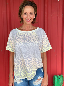 Grey Multi Leopard Top