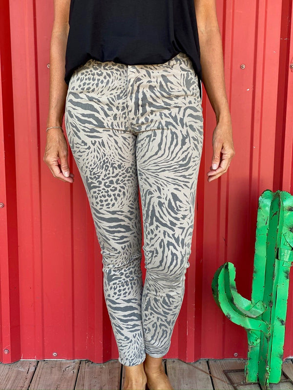 Articles Evansville Animal Print Jean
