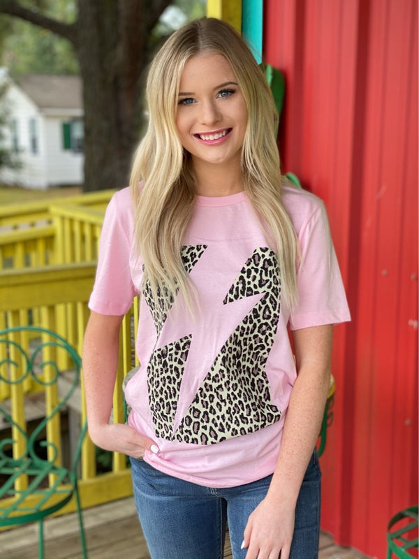 Leopard Lightning Graphic Tee