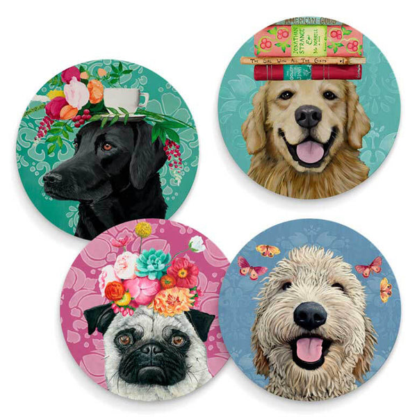 Happy Dogs - Set of 4 Coaster