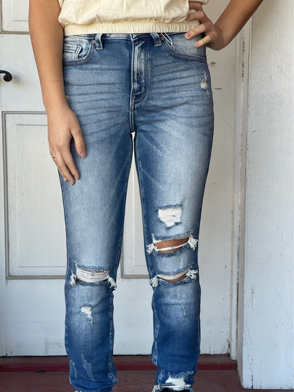 Ankle Skinny Kancan Ripped Jeans