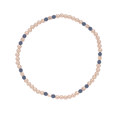 Essence Pattern Gold Bead Bracelet Sodalite 3mm