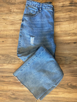 Denim Bottom Cut Edge