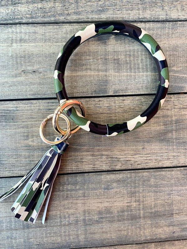 Camo Bangle Keychain