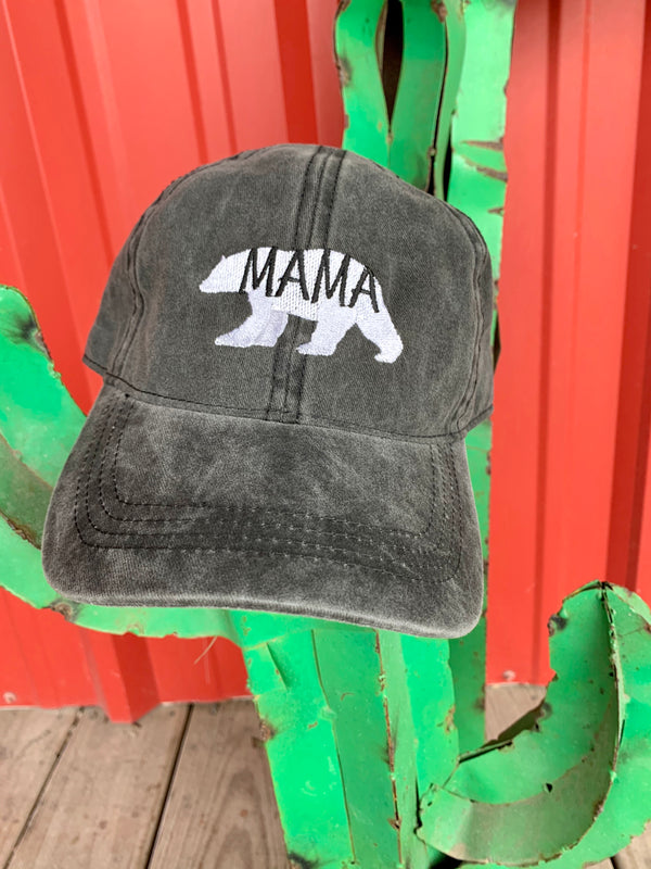 Mama Bear Cap Black