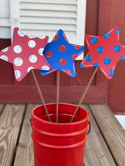 Polka Dot Stars Set of 3