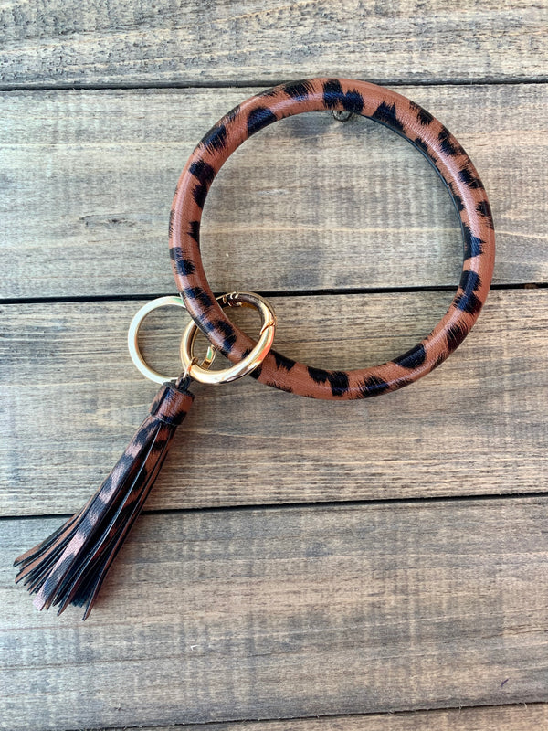 Dark Leopard Bangle Keychain