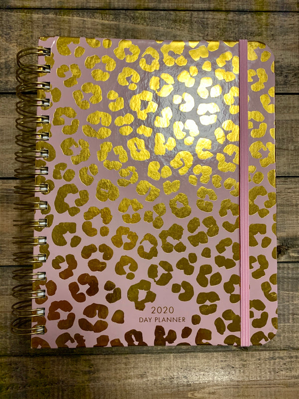 Day Planner Blush Leopard