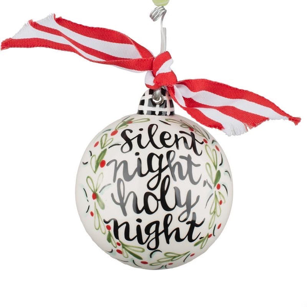 Silent Night Holy Night Ball Ornament