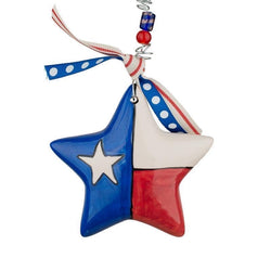 God Bless Texas Star Puff Ornament
