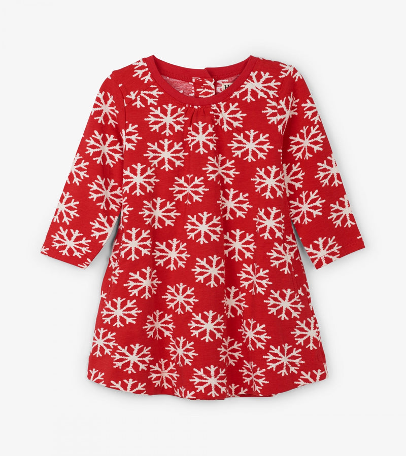 Falling Snowflakes Baby Swing Dress