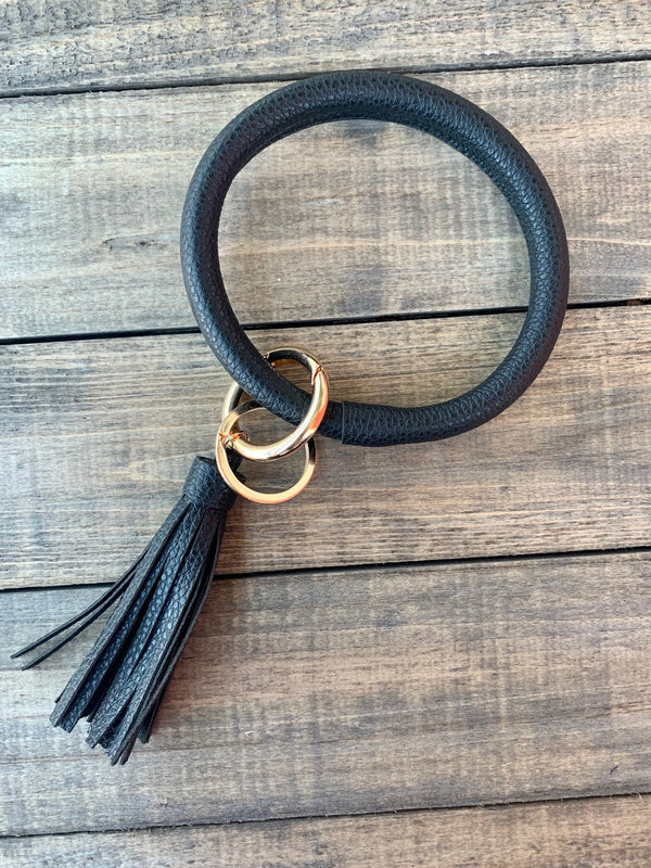 Black Bangle Keychain