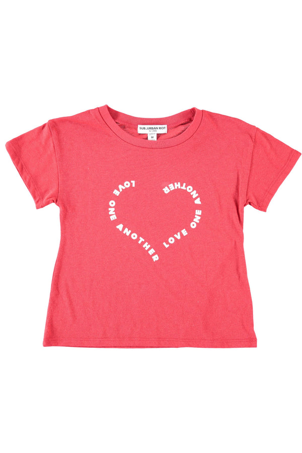 Love One Another Youth Crop Tee