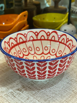 Hand-Painted Bowl Red