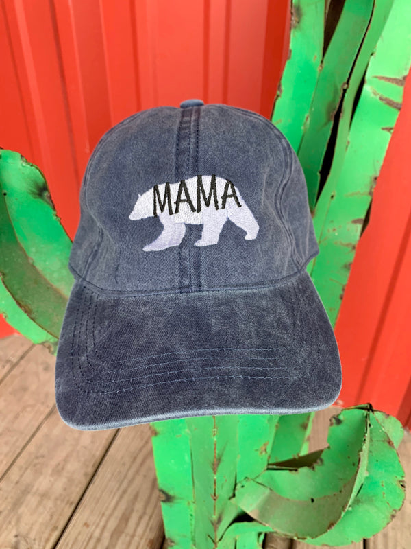 Mama Bear Cap Navy