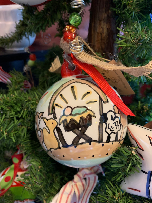 Away in the Manger Ball Ornament