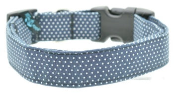 Medium Collar Navy Pin Dot